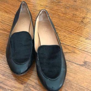 J. Crew black loafers. Size 8 1/2.